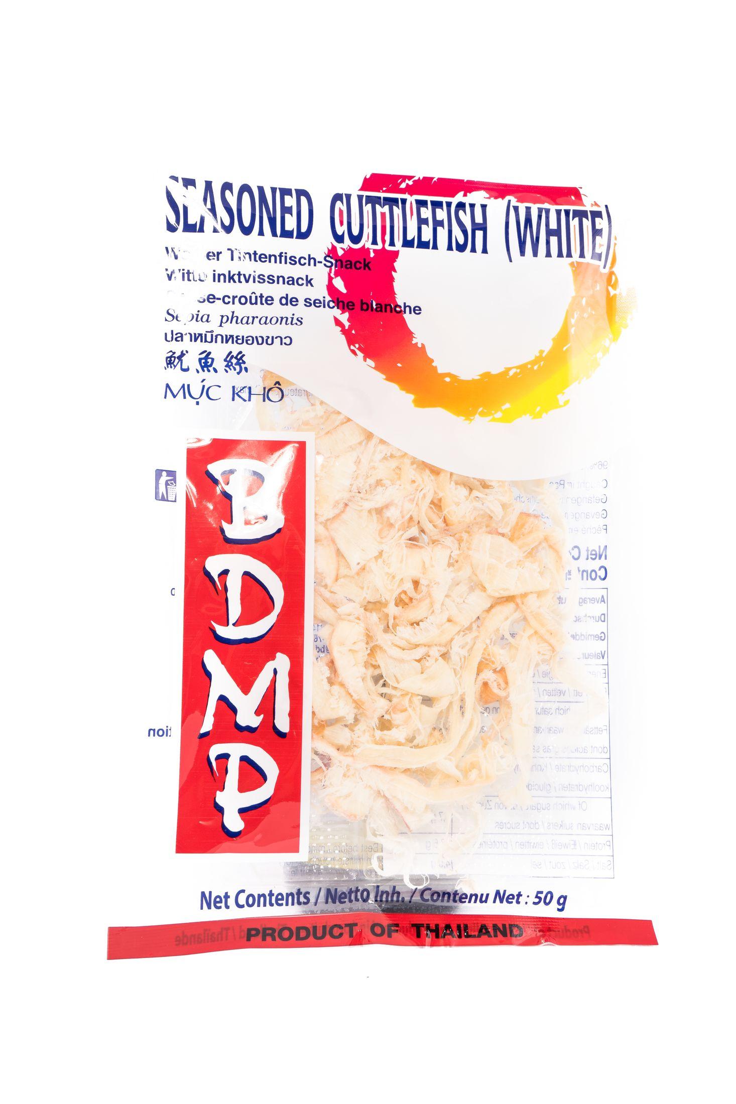 Seasoned white cuttlefish snack