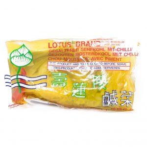 Lotus Gezouten mosterdkool met chili (辣咸酸菜)