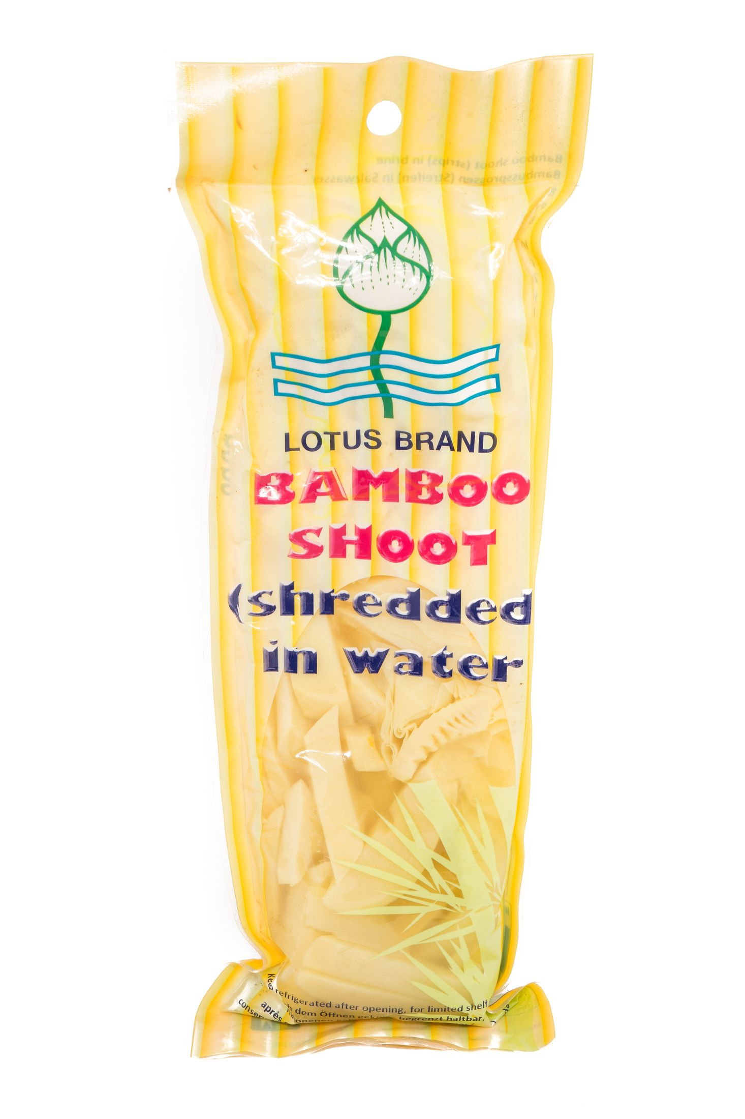 Bamboescheuten (reepjes) in zoutwater