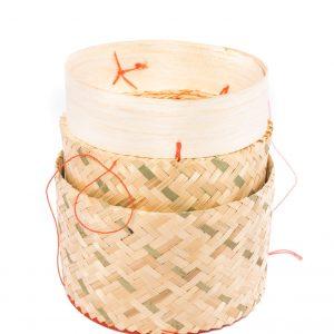 Bamboemandje voor kleefrijst Ø13cm