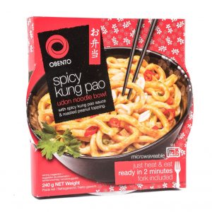Obento Bowl udon noedels pittige kung pao smaak