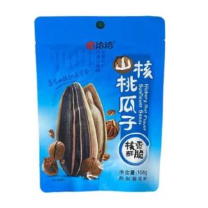 Cha Cha Hickory nut flavour sunflower seeds 108g (洽洽山核桃味瓜子)