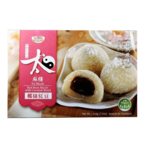 Royal Family Tai mochi red bean with coconut shred (皇族 太麻糬 - 耶丝红豆)