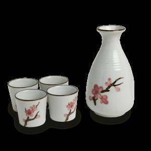 Sake set sakura