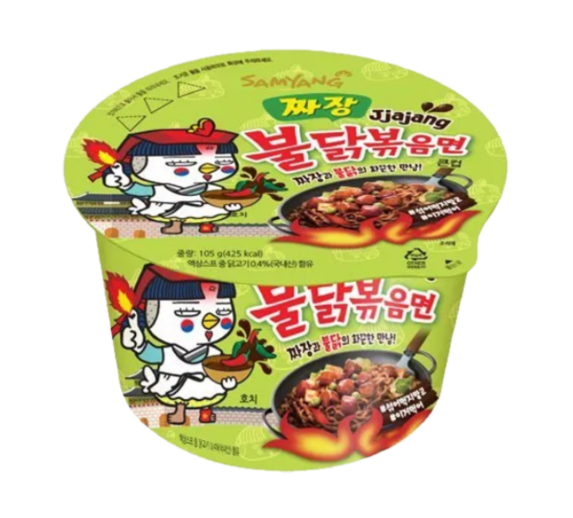 Bowl noodle hot chicken jjajang flavor
