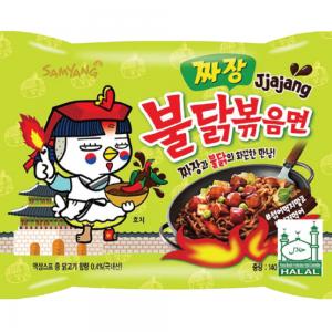 Samyang Noedels pikante kip smaak met Koreaanse zwarte bonensaus