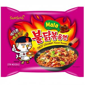 Samyang Noedels 4x pikante kip mala smaak