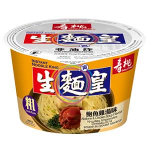 Sau Tao Bowl dikke noedels abalone & kip soep smaak (寿桃 生面皇鮑魚雞湯味)