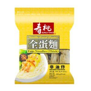 Sau Tao Eiernoedels dik (寿桃 袋裝全蛋麵 (粗))
