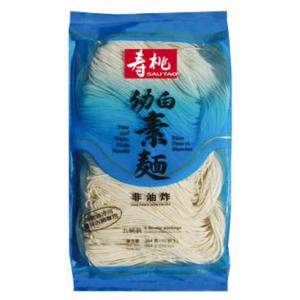 Sau Tao Fijne en witte platte noedels (寿桃 幼白素麵)