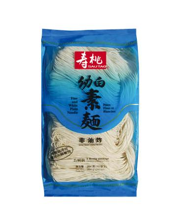 Fijne en witte platte noedels (寿桃 幼白素麵)