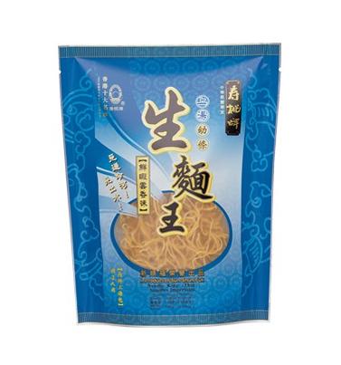 "Noedels ""king"" (fijn) wontonsoep smaak (寿桃 鲜虾云吞味(幼))"