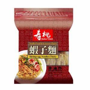 Sau Tao Garnalen eiernoedels dik (寿桃 袋裝蝦子麵 (粗))