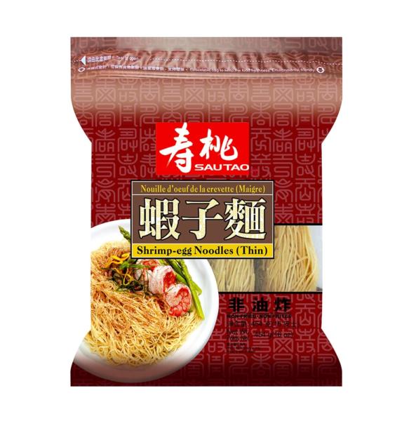 Sau Tao Garnalen eiernoedels dun (寿桃 袋裝蝦子麵 (粗))