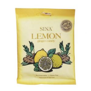 Sina Gluten free lemon flavor ginger candy