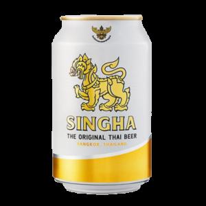 Singha Singha beer in can 5% ALC.