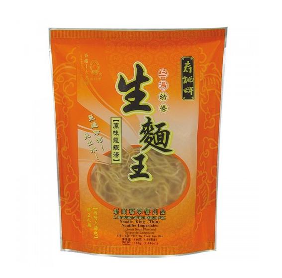 "Noedels ""king"" (fijn) kreeftsoep smaak (寿桃 生面王原味龙虾汤味)"