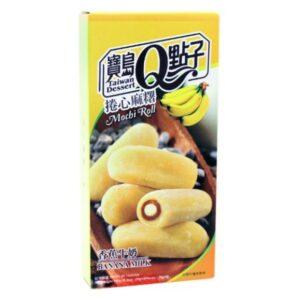 Taiwan Dessert  Banana milk mochi roll