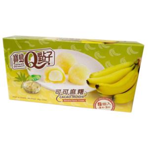 Taiwan Dessert  Cacao mochi banana flavor cream
