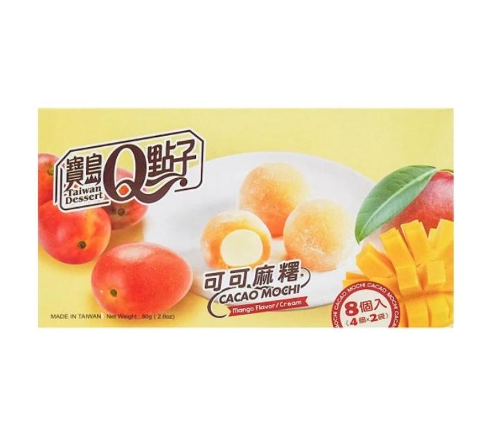 Cacao mochi mango flavor cream