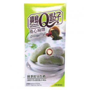 Taiwan Dessert Mochi roll green tea red bean milk flavor