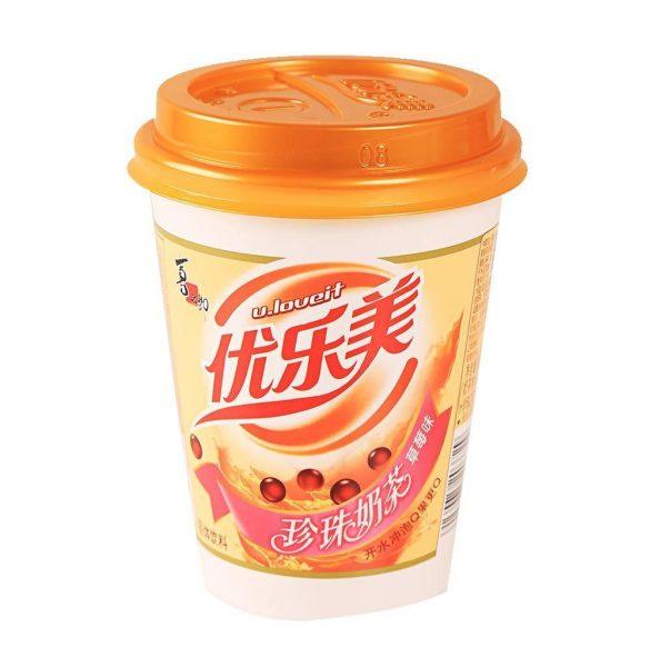 U.loveit Bubble melkthee aardbeien smaak (优乐美奶茶草莓)