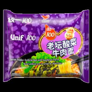 Unif Noodle beef mustard flavor (老坛酸菜牛肉面)