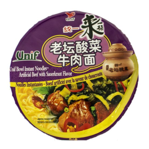 Unif Bowl noodle beef with sauerkraut flavor