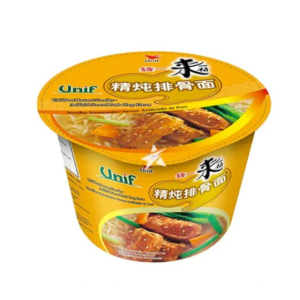 Unif  Bowl noodles - artificial stewed pork chop flavor (统一来一桶精炖排骨面 桶面)