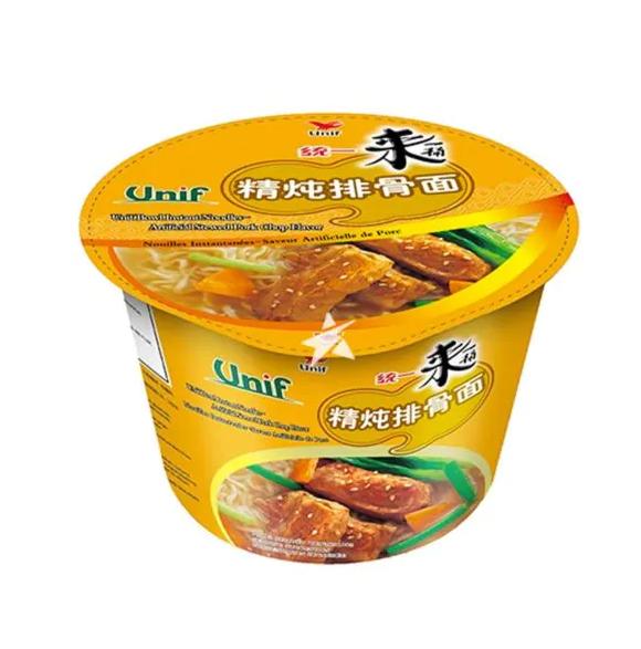 Bowl noodles – artificial stewed pork chop flavor (统一来一桶精炖排骨面 桶面)