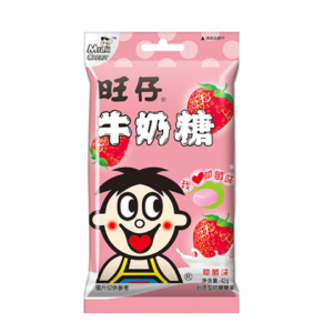 Want Want Milk candy strawberry flavour