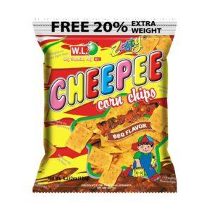 W.L. Foods Cheepee maïs chips bbq smaak