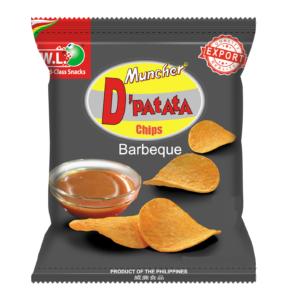 W.L. Muncher D'patata chips BBQ flavour (燒烤薯片)