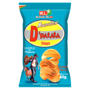 W.L. Muncher D'patata chips cheese flavour (芝士薯片)