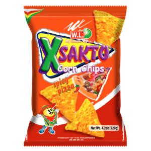W.L. X sakto corn chips spicy pizza flavour