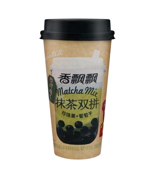 Xiang Piao Piao Bubble melkthee matcha smaak (香飘飘 抹茶双拼)