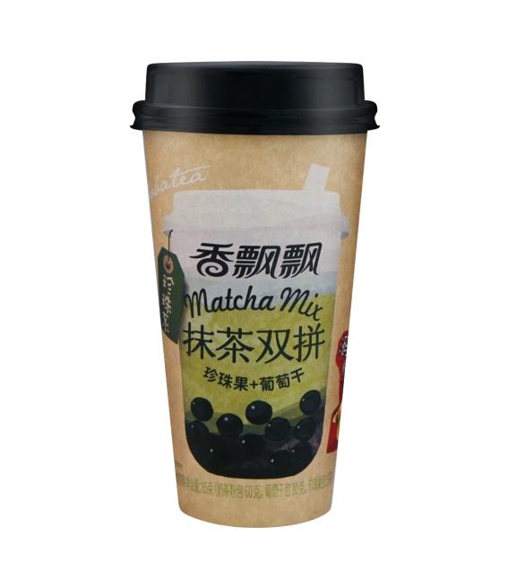 Bubble melkthee matcha smaak (香飘飘 抹茶双拼)
