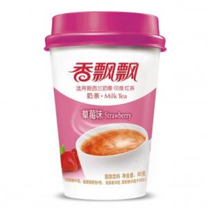 Xiang Piao Piao Melkthee aardbei smaak (香飘飘 奶茶草莓)