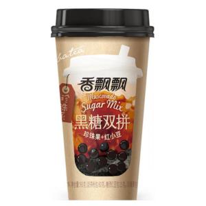 Xiang Piao Piao Boba tea muscovado sugar mix (香飘飘 黑糖双拼奶茶 珍珠果+红小豆)