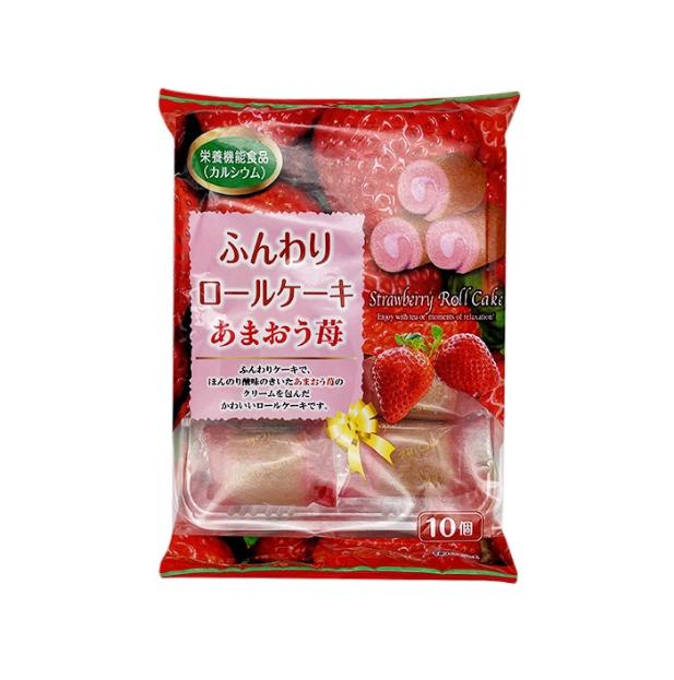 Mini rollcake strawberry