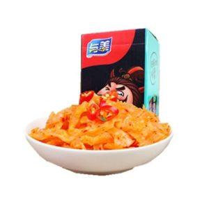 Yumei  Instant konjac snack pikant (与美 素毛肚香辣味)