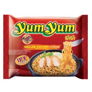 Yum Yum Noodles grilled chicken flavour Thai hot & spicy