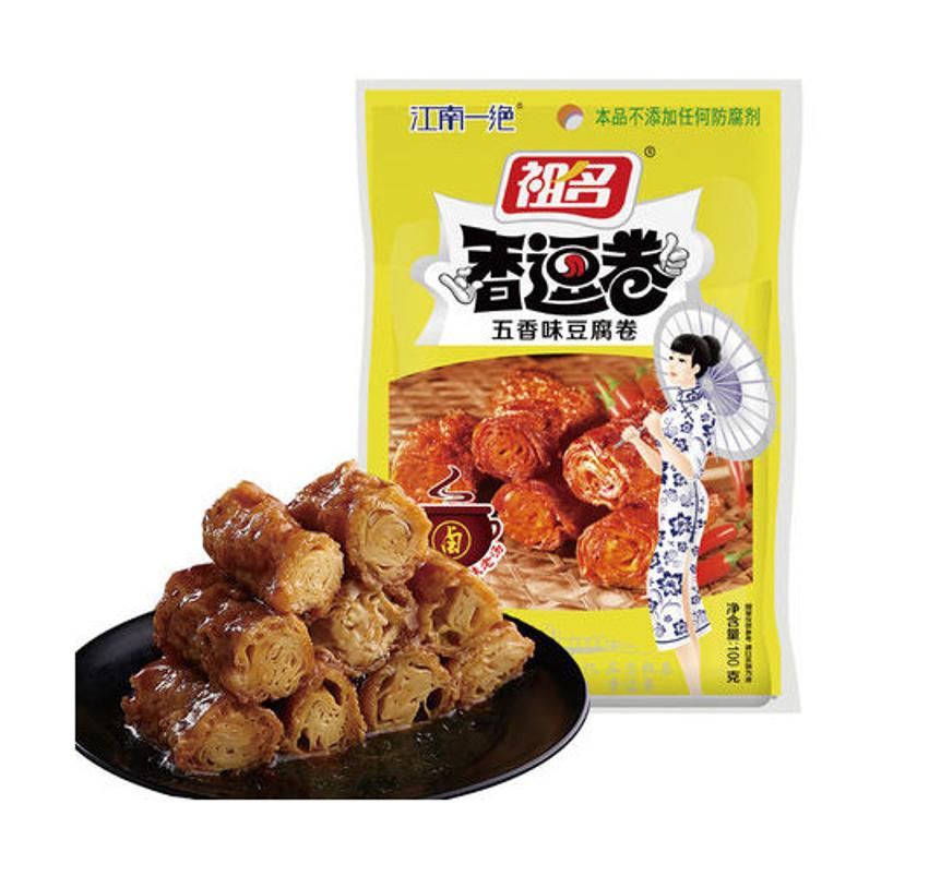 [BBD: 17/07/2021]Soybean roll snack five spice flavor (祖名 香逗卷 五香味豆腐卷)